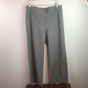 Chico's | Size 3. Original Gray Pinstriped Pants